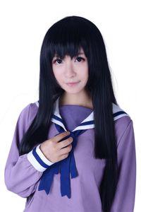 Beautiful Bones Sakurako Kujou Anime Cosplay Wig Black Long Straight Full Wigs