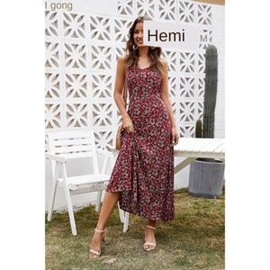 VmBgR ZSNKW 2020 delle donne di estate s stampata floreale slim-fit Sling vestito casuale dal pannello stampato floreale estate grande d 2020 donne di disegno slim fit