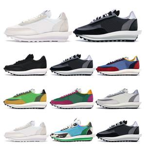 Sacai LDV Waffle koşu ayakkabıları erkekler için üçlü siyah beyaz pembe Şarap bayan spor sneakers trainer Nefes vintage moda b ...