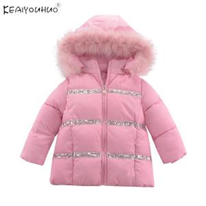 2020 Nuovo caldo velluto rosa vestiti del bambino con cappuccio Zipper bambini giacca invernale del rivestimento del cappotto per ragazze Suit 3 4 5 6 7 8 Anni