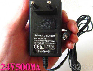 EU standard 24v power adapter lead acid scooter battery charger electric E-scooter charger DC27.6v 500mA 5.5*2.1mm DC Output