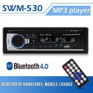 Rádio SWM-530 Car Stereo Bluetooth Autoradio 1DIN 12V Car Audio Multimedia Bluetooth 4.0 Car MP3 Music Player Rádio FM Dual USB AUX
