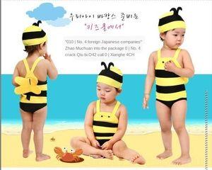 dei Pmu0r bambini costume da ape ragazzi svegli e le ragazze di un pezzo del costume da bagno bambino fumetto coreano poco