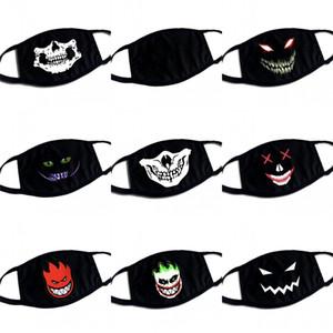 Moda 3 5bba E2 Nefes Kafatası Evil Eyes Siyah Yüz Maskeleri Yeniden kullanılabilir mascarilla Katlanabilir Nefes Maske Yıkanabilir toz geçirmez Yetişkin
