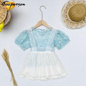 Gooporson Summer Fashion Kide Roupa bordado Lace TopStrapless saia bonito Vestuário Meninas Set Outfits coreano