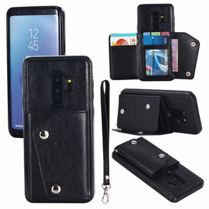 Pour OPPO R11 R9S Plus Card Mode véritable titulaire Portefeuille en cuir de protection anti-choc Phone Case Cover