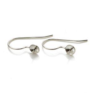 진주 파티를위한 낚시 귀걸이 설정 빈 자료 간단한 Earwire 925 스털링 실버 주얼리 DIY 사실 인정