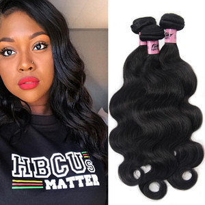 NAMI Brasiliani Vergin Virgin Hair Weave Body Body Onda Deep Deep Hair Bundles con chiusura frontale 3 / 4pcs / lot 100% Human Remy Remy Prolunga
