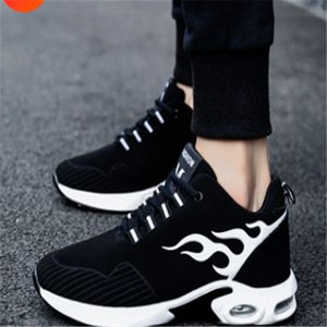Spring and autumn breathable men's casual sports shoes boys trend student shoes increased air cushion shoes