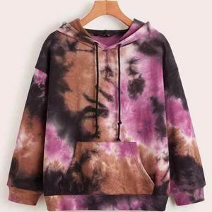 Colorful Print Women's hoodies streetwear Winter clothes Women Sweatshirts Round Neck Long Sleeve Ladies Hoodie sudadera mujer