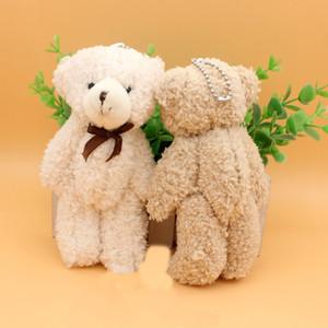 13cm Best selling bow tie plush toy joint bear cartoon teddy bear bag pendant wedding creative small gift bear toys WJ011 LJ200902