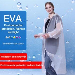 Environmental Protection Thicken Adult Raincoat Translucent Outdoor Tourism Eva Fashion Light Rainsuit Windbreaker