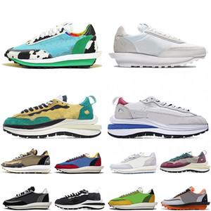 Nike Sacai LDV X Waffle vaporwaffle robusto Dunky amanhecer ldv waffle jogo reais dos homens ao ar livre das mulheres tênis das sapatilhas de nylon esporte preto