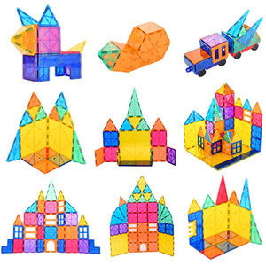 120 pcs Big Size Magnetic Designer Construction Set Model & Building Toy Plastic Magnetic Blocks Educational Toys For Kids Gift