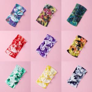 23 Renkler Çocuk Bandı Ilmek Karikatür Çocuk Kız Yay Bandı Saç Aksesuarları Bebek Tie Boya Kafa