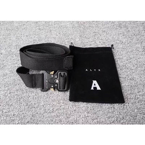 XX Men Women Belts ALYX Belt Ordinary Canvas Alyx Belt High Quality Metal Buckle 128 cm Streetwear Ambush