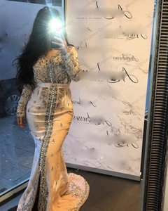Full Beading Moroccan Kaftan Evening Dresses Luxury Appliques Saudi Arabic Muslim Special Occasion Dress Custom Made