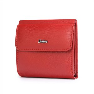 HH Mini Genuine Leather Womens Wallet Small Female ID Card Holder Wallets Slim Cow Leather Ladies Money Bag Coin Purses