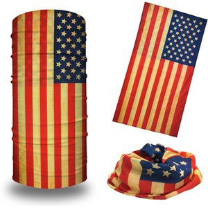 In Stock Wholesale American Flag Striped Classic Flag Head Scarf Designer Neck Tube Sports Face Mask