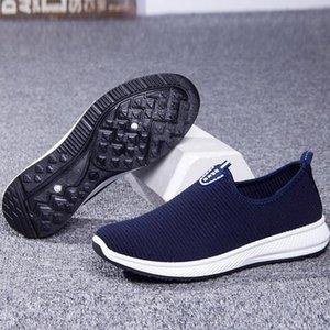 avec boîte MLANXEUE Mode Mesh respirant Hommes Chaussures antidérapante Semelle en caoutchouc Homme Chaussures 2019 Eté Automne Taille Plus 39-44 Homme Noir