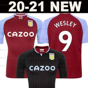 19 20 maillots de football Aston Villa 2019 2020 maison loin WESLEY Grealish Kodja EL GHAZI CHESTER McGinn TARGETT hommes kit d'enfants ensemble chemises de football