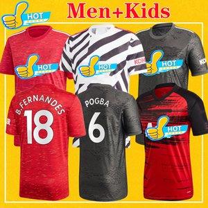 Manchester Mann 2021 FERNANDES utd Vereinigte VAN DE BEEK WALD Rashford Fußball-Jersey-Fußball-Hemd KAMPF 20 21 Kids Kit Uniformen