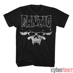 DANZIG Skull Distressed T-shirt Misfits Glenn Danzig New autentico rock S-2XL