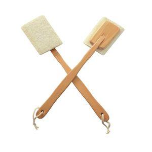 Natürliche Loofahs Massagebürste Rub Your Back Bad Brushs Lange Griffe Bequeme Exfolianten Leicht BWC2418