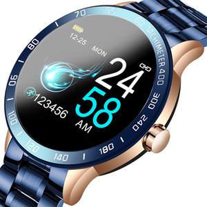 LIGE 2020 Nueva pantalla inteligente los hombres del reloj LED de la presión arterial monitor de ritmo cardíaco rastreador de ejercicios del deporte del reloj impermeable SmartWatch + Caja
