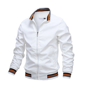 Men's Jacket Fashion Spring and Autumn New Arrival Men's Sports Solid Color Stand Collar jacket M-3XL