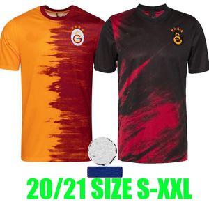20 21 GalatasAray Falcao Futebol Jerseys 2020 2021 Camiseta de Futbol Seri Belhanda Luyindama Josemir Lemina Home Away Camisas de futebol Patch