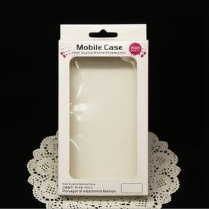 EM ESTOQUE embalagem original Casos de papel de varejo celular pacote telefone de tampa de embalagem para iPhone 6 5 5S 4 4s Branco Caixa de papel