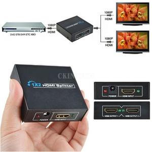 20Pcs Lot 4K 1x2 Port HDMI Splitter Amplifier 3D 1080p Female Switch Box 1 Input to 2 Output (Color: Black)