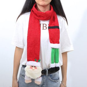Christmas Santa Claus Scarf for Women Men 2021 New Year Xmas Party Favors Long Scarf Wraps Gift Winter Fit Lovers Cute