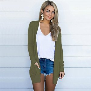 Casual Long Sleeve Slim Knits Women Clothes Womens Plus Size Knits Fashion Natural Color Cardigan Tops