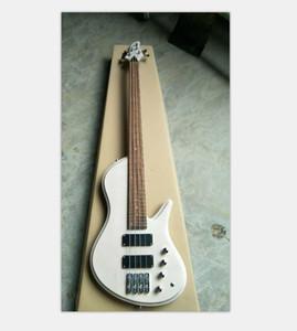 Custom 4 strings White Electric Bass Guitar Black Hardware 29 frets China Made Bass Free Shopping