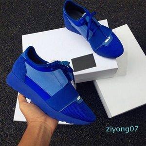 Double Boîte Armée Vert Bleu Chaussures Homme Race Runner Casual Woman Box Patchwork Mesh Entraîneur Chaussures Taille 35-46 Z07