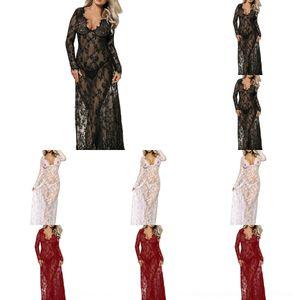0fOwS transparent lange Nachthemd skirt 80497 reizvolle Spitze reizvolle Unterwäsche Schlaf Unterwäsche Schlaf Nachthemd Spitze lange transparenter Rock 8049