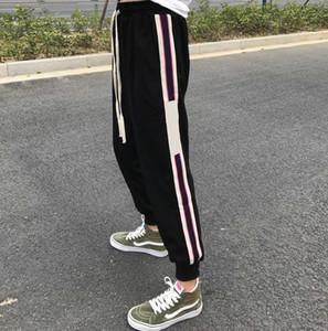 20ss En Çok Satan Erkek Pantolon Moda Tasarımcısı Ter Pantolon Detaylar Metal Dikiş Klasik Tasarım Mektupları Her İki Tarafında Mevsim Fit Pantolon