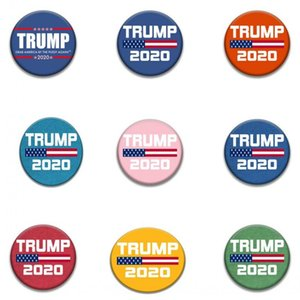mode 9style Trump Badge commémorative PINS Broches 2020 Badge Trump Supplies Election américaine du drapeau américain Supply