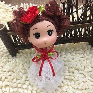 INS 12 centímetros Orelhas de gato Mini Ddung Ddgirl Dolls Meninos Coelho Olhos grandes menina Doll Dress Saia Dolls Bag Titular Car Styling Toy Keyholder i5oN #