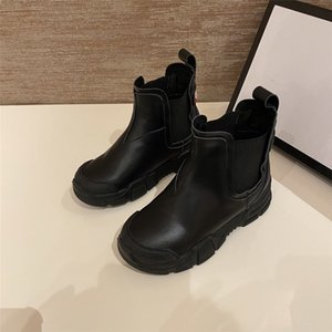2020s Children Boots Casual Autumn Winter Leather School Boy Shoes Fashion In Snow Boots 2020 NEW Kids girls Martin Boots