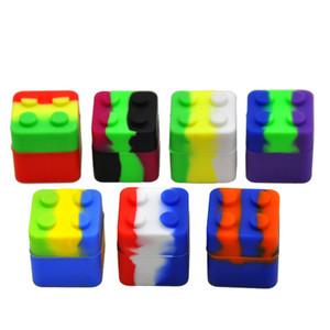 실리콘 매직 큐브 왁스 컨테이너 실리콘 상자 30mm * 30mm 소형 컨테이너 오일 박스 항아리 살짝 적셔 도구 휴대용 다기능 저장 항아리