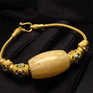 Ketang ámbar cera de abeja cubo de cuentas pulsera con accesorios de color turquesa pulsera accesorios turquesa del Sur Red Green Gold completa Miel Demonio p