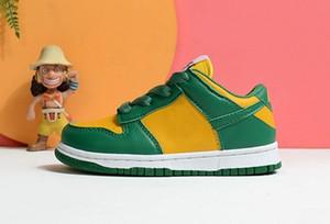 الرضع دونك sb البرازيل اسكواش الذرة الاطفال الاحذية الأحذية الصفراء الأخضر الأبيض البرتقالي بوي فتاة أحذية رياضية البطل الألوان الأطفال المدربين