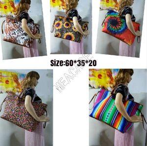Женщины подсолнечника Радуга Полосатый Leopard Дизайнер сумки Негабаритные сумки на ремне, водонепроницаемый Торговый СУМКА Тотализаторы Путешествия Weekender Bag D81903