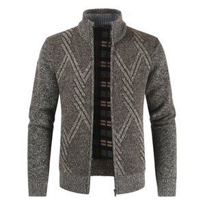 NEGIZBER 2019 Collier Stand Casual Hommes Automne Hiver Gros Cardigan hommes Mode chaud Pull Manteaux Menoutlet