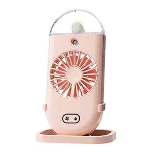 Handheld Spray Fan, Portable Rechargeable USB Humidifier, Small Fan,Pink