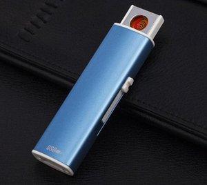 Çakmak USB yaratıcı kişiliği elektronik çakmak ücretsiz sh f5Fs # yay darbeli ince çift yay rüzgar geçirmeyen çakmak şarj SharpStone
