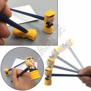 Donald Trump Hammer Spielzeug Bleistift PVC Hammer 2-teiliges Set Designer Neuheit Desktop Display Bleistifthalter-Geräusch-Hersteller Bleistift Puppen D81707